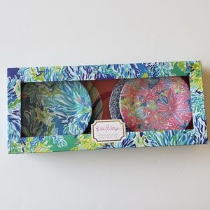 "Lilly Pulitzer appetizer plate set ""Wade and Sea"""